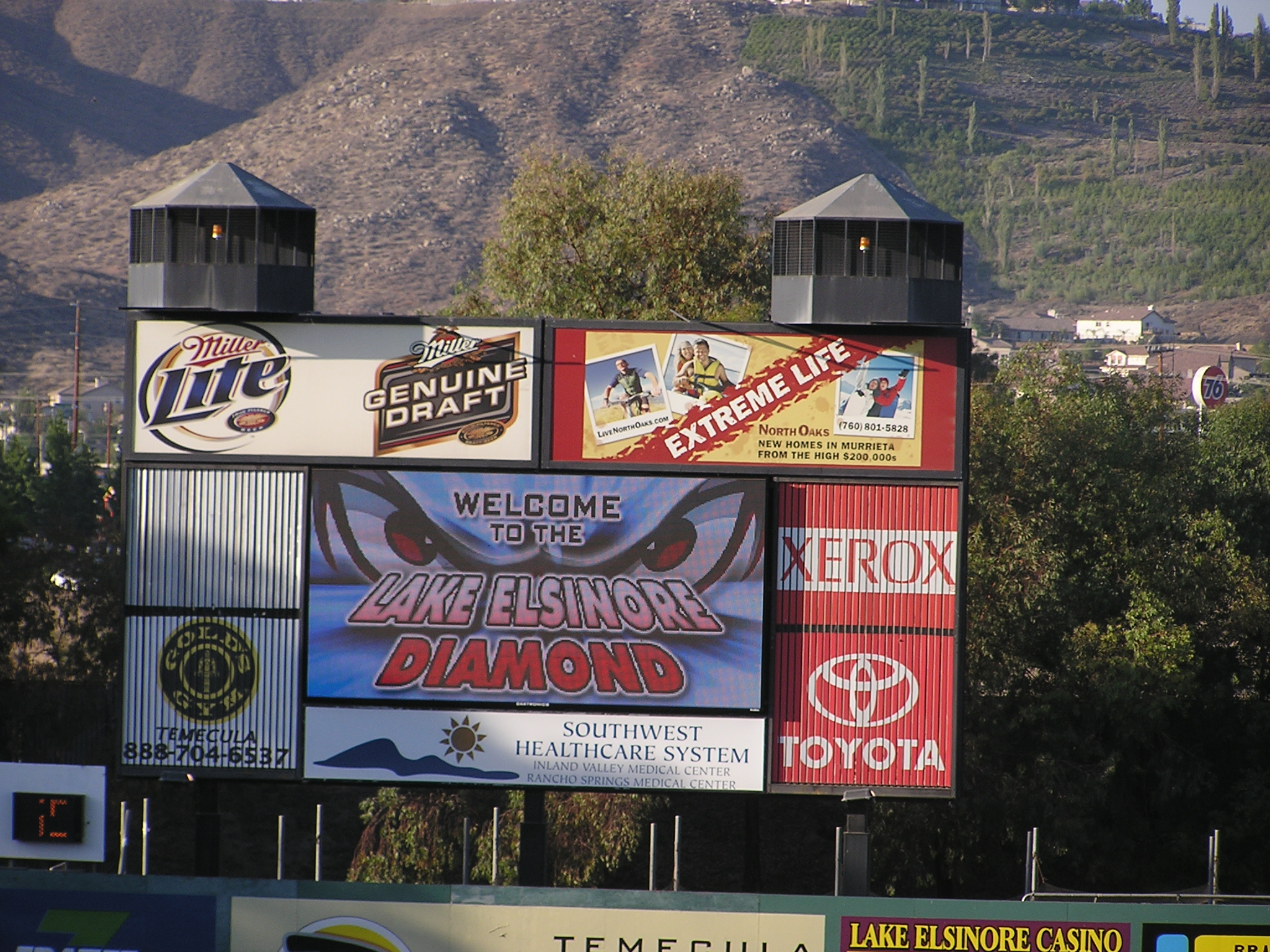 The video board in LF - Lake Elsinore, Ca