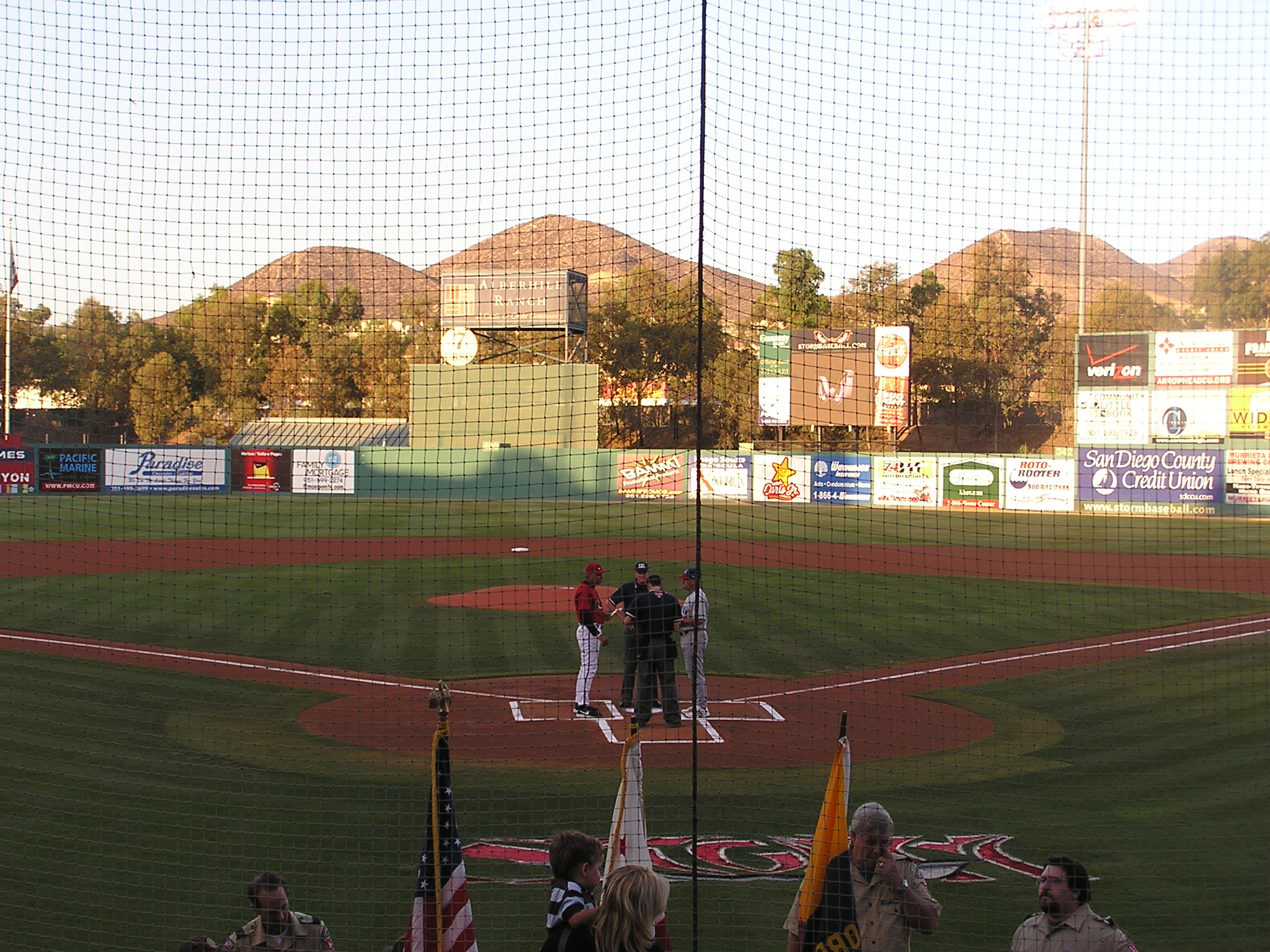Exchanging the Line ups- Lake Elsinore, California