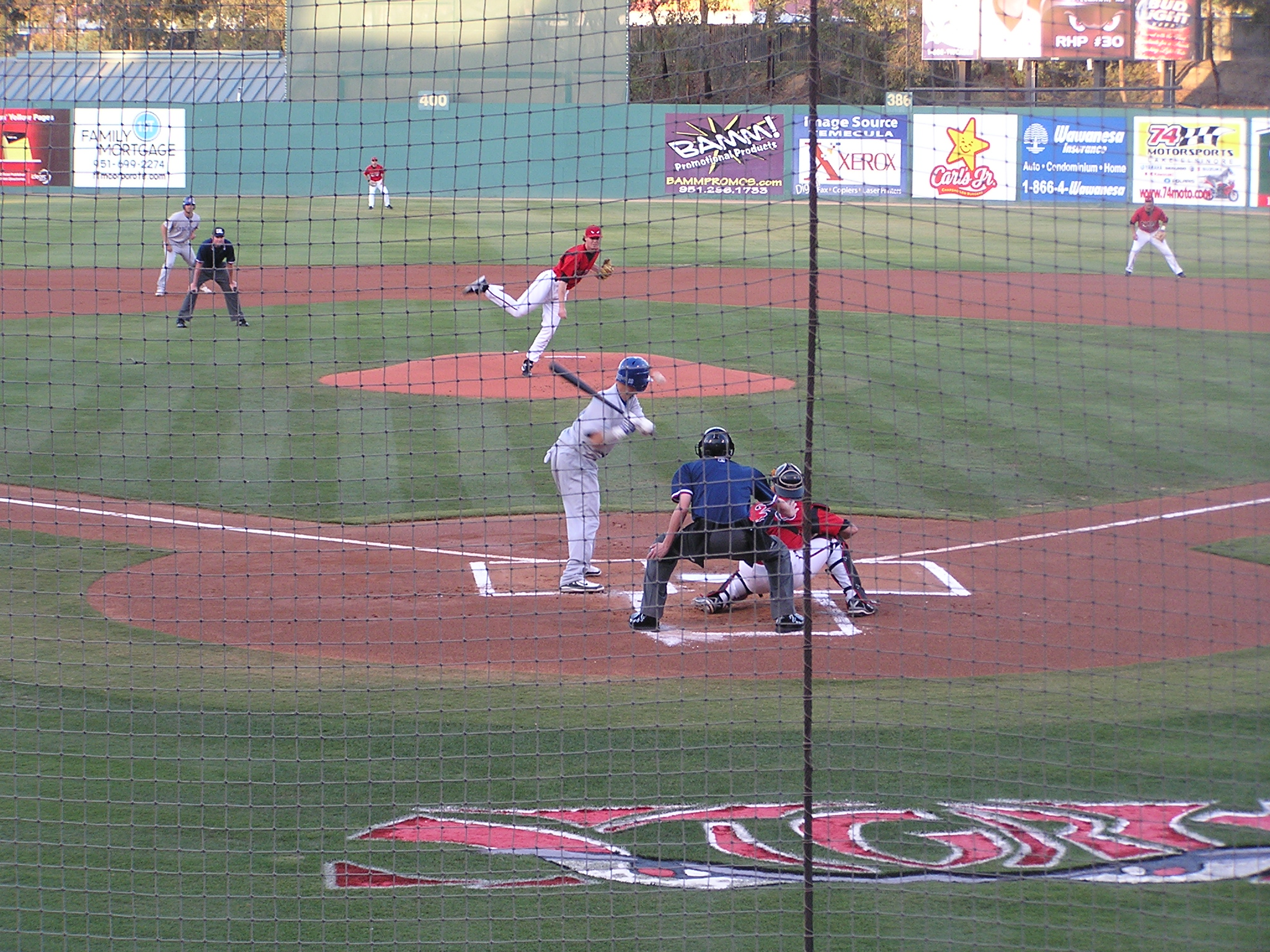 Game Action at Lake Elsinore, California